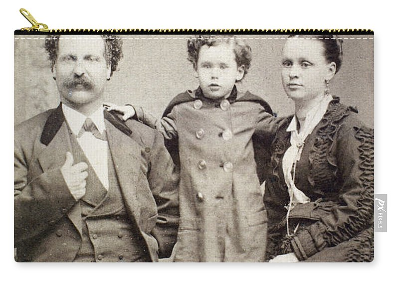 1880 Carry-all Pouch featuring the photograph Eli Bowen, C1880 by Granger