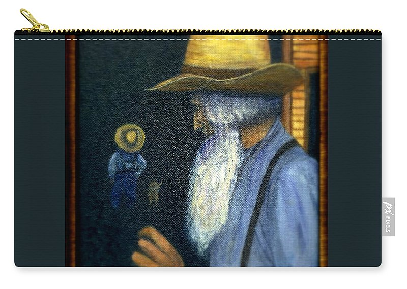 Men Carry-all Pouch featuring the painting Eli Remembers by Gail Kirtz