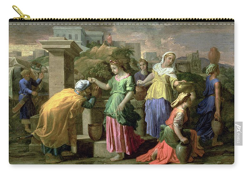Bucket Carry-all Pouch featuring the painting Eliezer And Rebecca At The Well by Nicolas Poussin