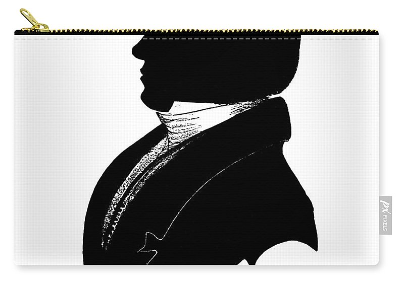 19th Century Carry-all Pouch featuring the painting Elijah Parish Lovejoy (1802-1837) by Granger