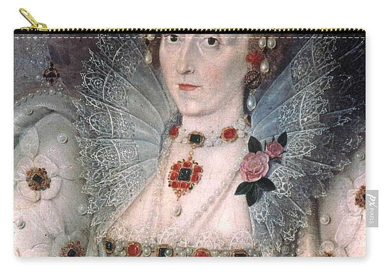 1592 Carry-all Pouch featuring the painting Elizabeth I Of England by Granger