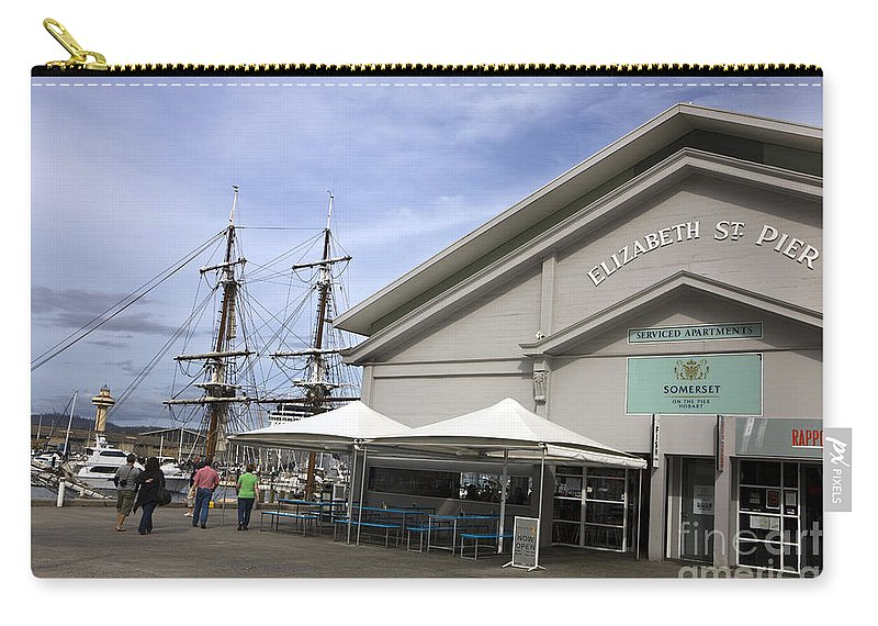 Travel Carry-all Pouch featuring the photograph Elizabeth Street Pier Hobart by Jason O Watson