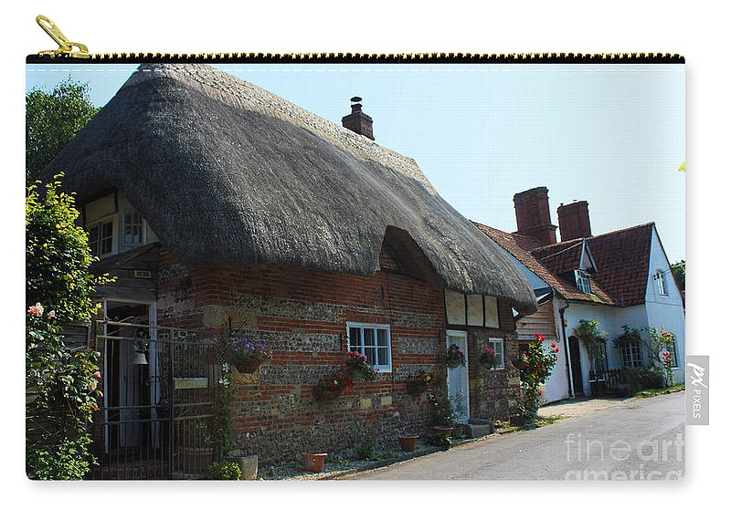 Nether Wallop Carry-all Pouch featuring the photograph Elm Cottage Nether Wallop by Terri Waters