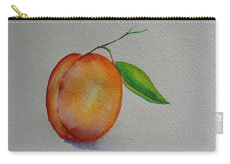 Apricot Carry-all Pouch featuring the painting Elsie by Shannon Grissom