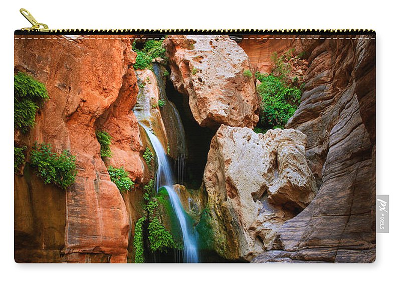 America Carry-all Pouch featuring the photograph Elves Chasm by Inge Johnsson