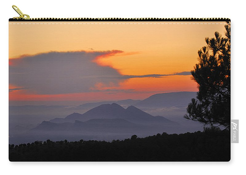 Landscape Carry-all Pouch featuring the photograph Elvira Sierra At Sunset by Guido Montanes Castillo