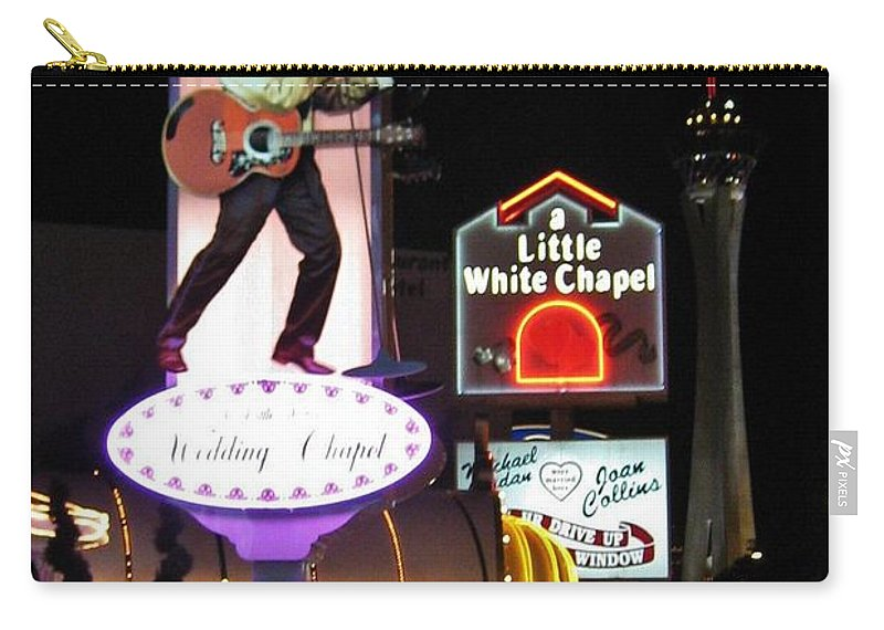 Las Vegas Carry-all Pouch featuring the photograph Elvis Lives by John Malone