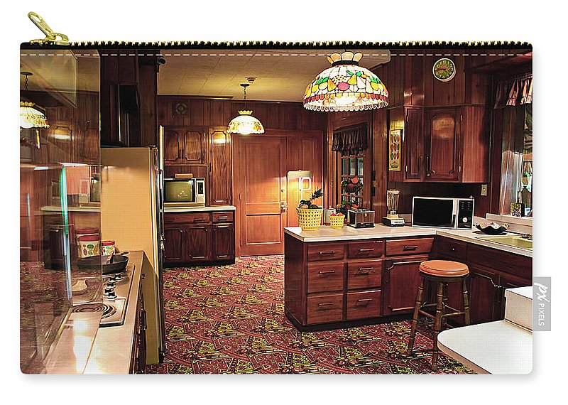 Elvis Carry-all Pouch featuring the photograph Elvis Presley's Kitchen by Carlos Diaz