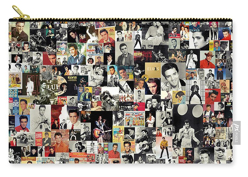 Elvis Presley Carry-all Pouch featuring the digital art Elvis The King by Zapista OU