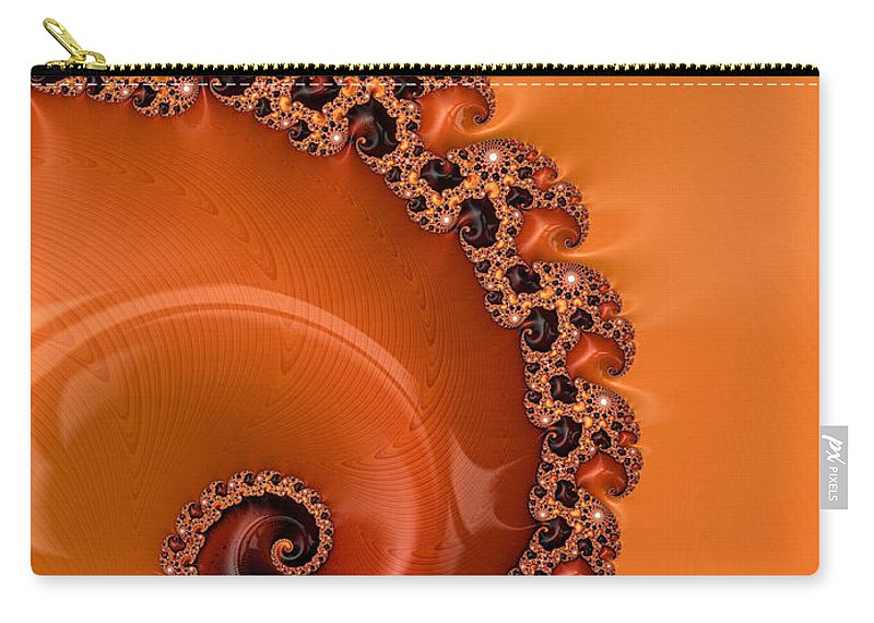 Fractal Carry-all Pouch featuring the digital art Embellished Wood Grain by Heidi Smith