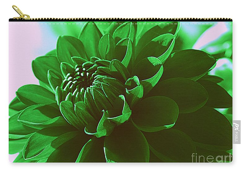 Dahlia Carry-all Pouch featuring the photograph Emerald Green Beauty by Dora Sofia Caputo Photographic Design and Fine Art
