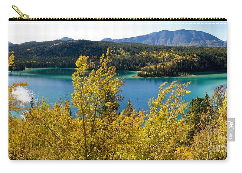 Adventure Carry-all Pouch featuring the photograph Emerald Lake At Carcross Yukon Territory Canada by Stephan Pietzko