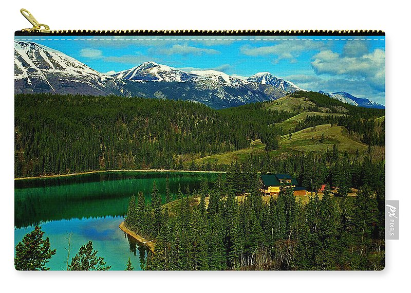 Emerald Carry-all Pouch featuring the photograph Emerald Lake - Yukon by Juergen Weiss