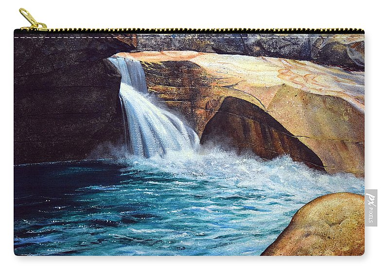 Emerald Pool Carry-all Pouch featuring the painting Emerald Pool by Frank Wilson