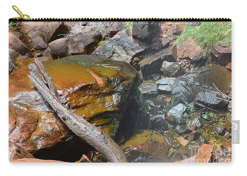 Upper Emerald Pools Carry-all Pouch featuring the photograph Emerald Pools Close Up by Rincon Road Photography By Ben Petersen