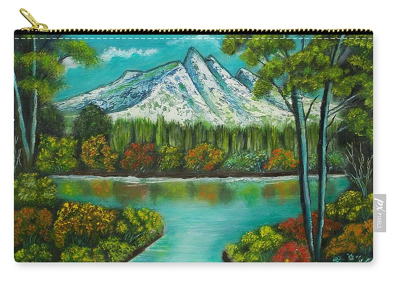 Landscape Carry-all Pouch featuring the painting Emerald Valley by Brenda Drain