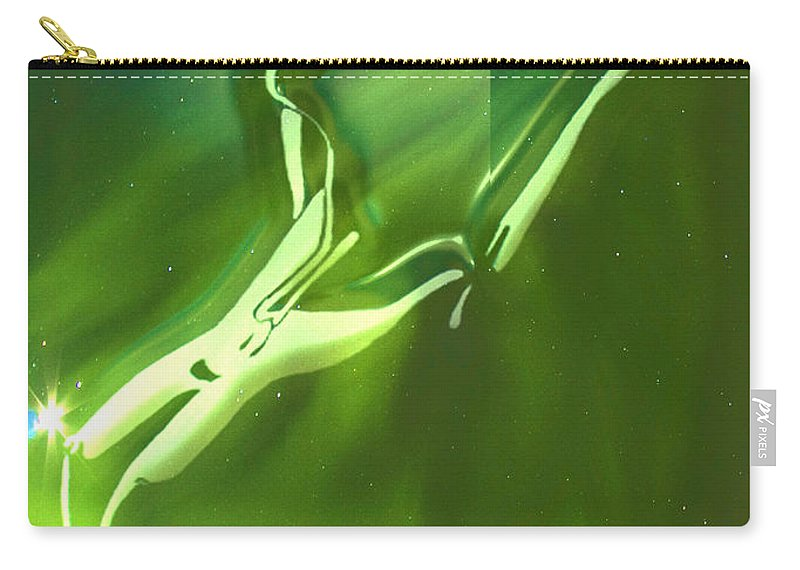 Nude Paintings Drawings Carry-all Pouch featuring the digital art Emerge by Mayhem Mediums