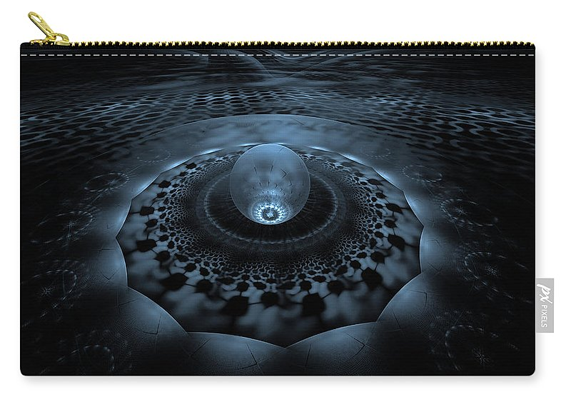 Fractal Carry-all Pouch featuring the digital art Emergence 1 by GJ Blackman