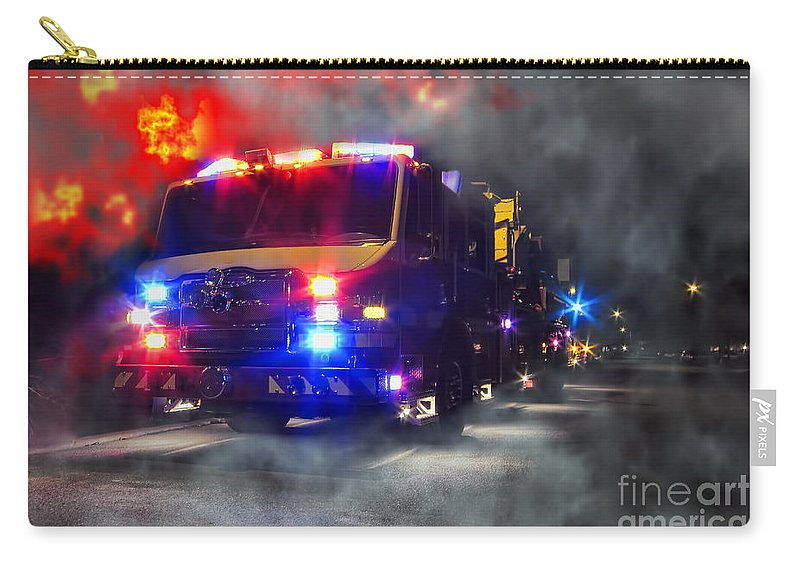 Fire Carry-all Pouch featuring the photograph Emergency by Olivier Le Queinec