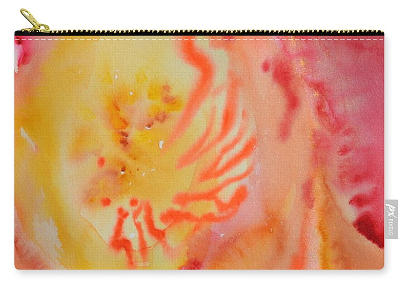 Abstract Carry-all Pouch featuring the painting Emergent by Beverley Harper Tinsley