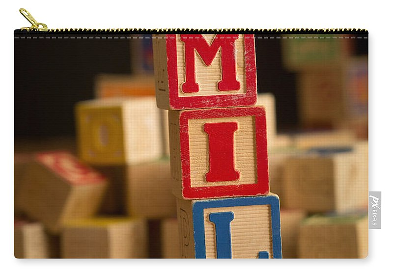 Alphabet Carry-all Pouch featuring the photograph Emily - Alphabet Blocks by Edward Fielding