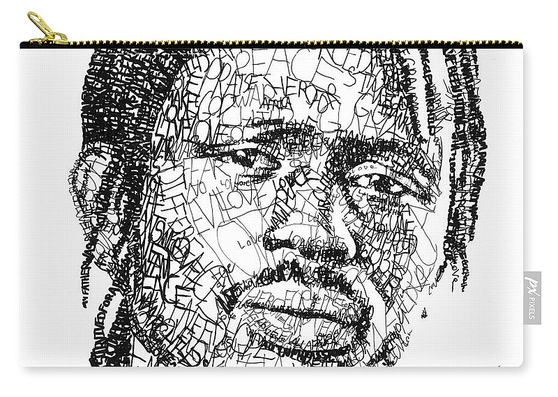 War Child Carry-all Pouch featuring the digital art Emmanuel Jal by Michael Volpicelli