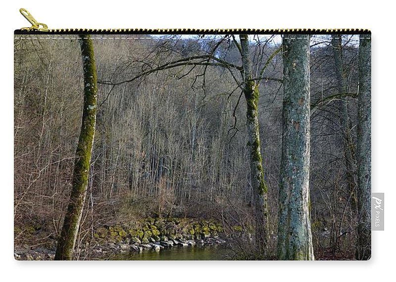 Landscape Carry-all Pouch featuring the photograph Emme's Bank by Felicia Tica