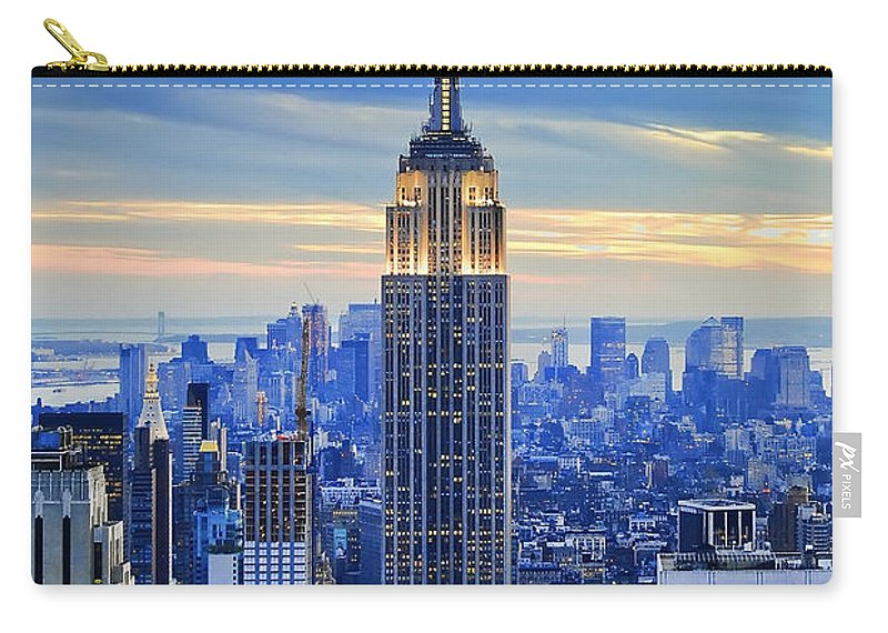 New York City Carry-all Pouch featuring the photograph Empire State Building New York City USA by Sabine Jacobs