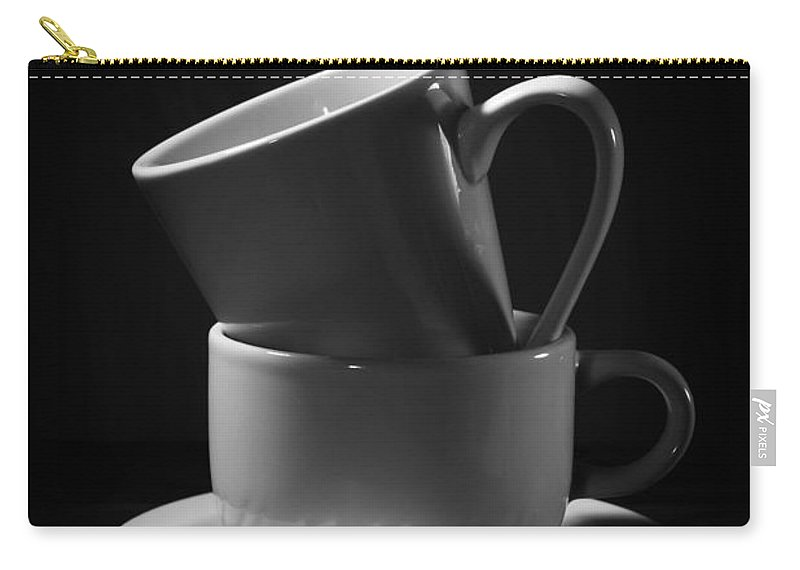 Empty Carry-all Pouch featuring the photograph Empty Coffee Cups by Donald Erickson