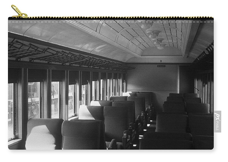 Railroad Carry-all Pouch featuring the photograph Empty Railway Coach by Rodney Lee Williams