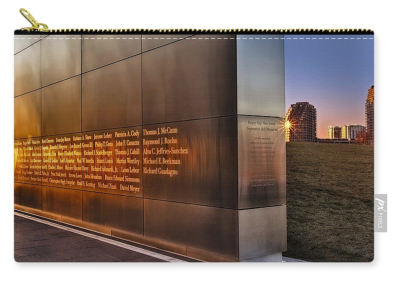 911 Carry-all Pouch featuring the photograph Empty Sky Nj 911 Memorial by Susan Candelario