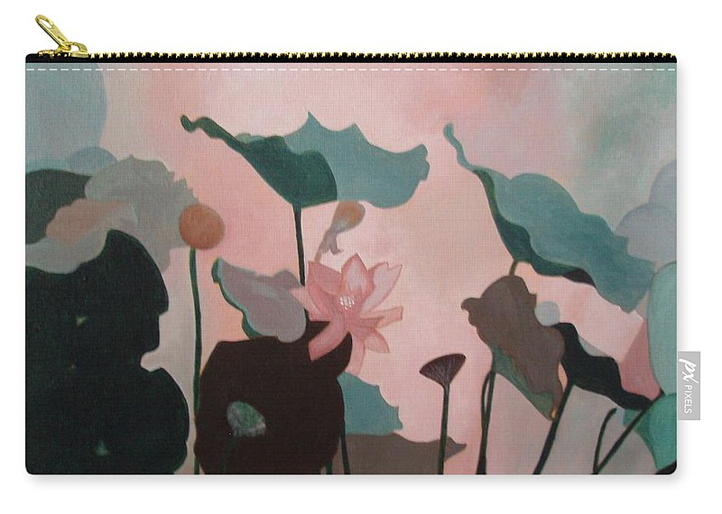 Lilly Carry-all Pouch featuring the painting Enchanted Garden by Patricia Brewer-Cummings