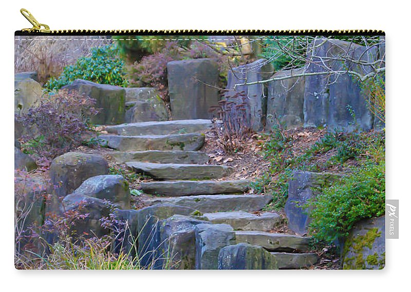 Stairs Carry-all Pouch featuring the photograph Enchanted Stairway by Athena Mckinzie