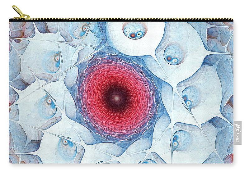 Malakhova Carry-all Pouch featuring the digital art Encircle by Anastasiya Malakhova