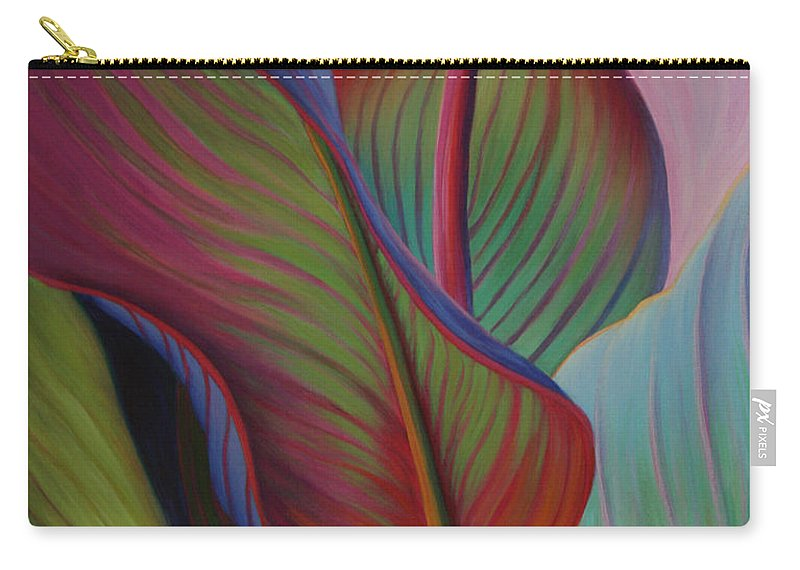 Cannas Carry-all Pouch featuring the painting Encore by Sandi Whetzel