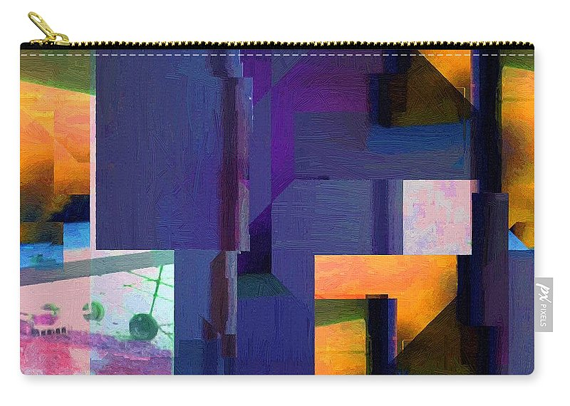 Abstract Carry-all Pouch featuring the painting Encroachment by RC DeWinter