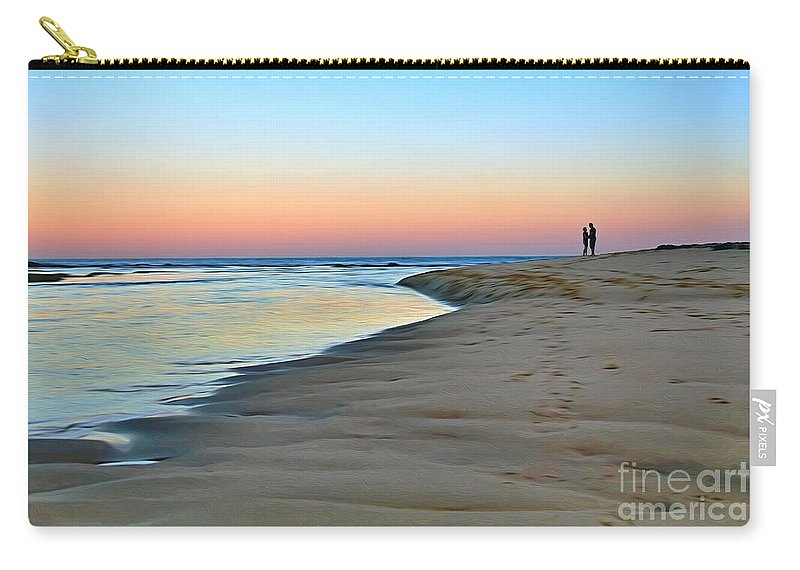 Photography Carry-all Pouch featuring the photograph End Of A Perfect Day by Kaye Menner