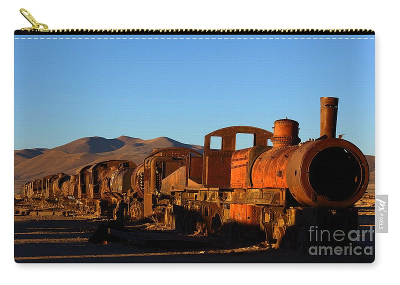 Bolivia Carry-all Pouch featuring the photograph End Of An Era by James Brunker