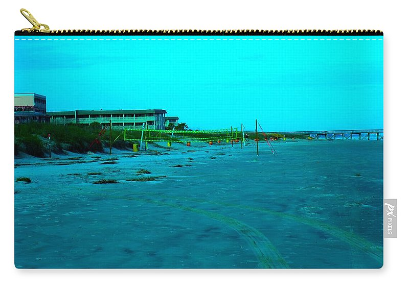 Kendall Kessler Carry-all Pouch featuring the photograph End Of The Day At Isle Of Palms by Kendall Kessler