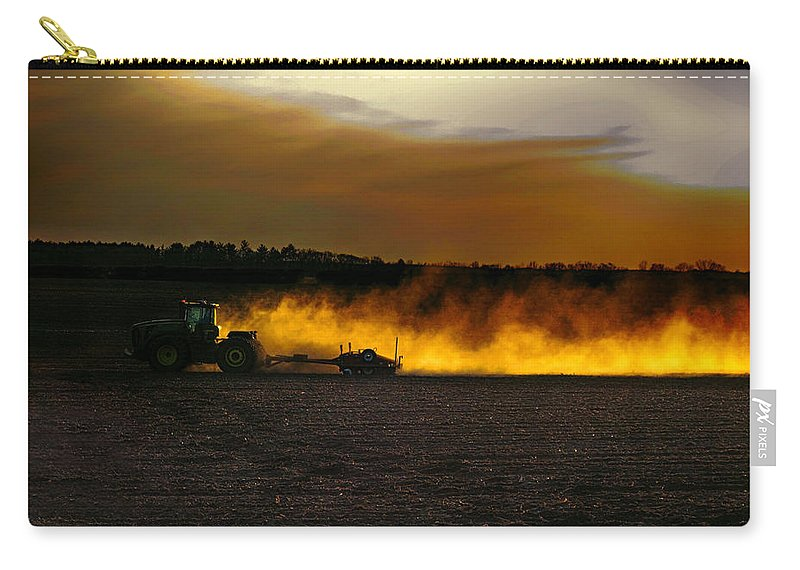 Farming Carry-all Pouch featuring the photograph End Of The Day In The Field by Tommy Anderson