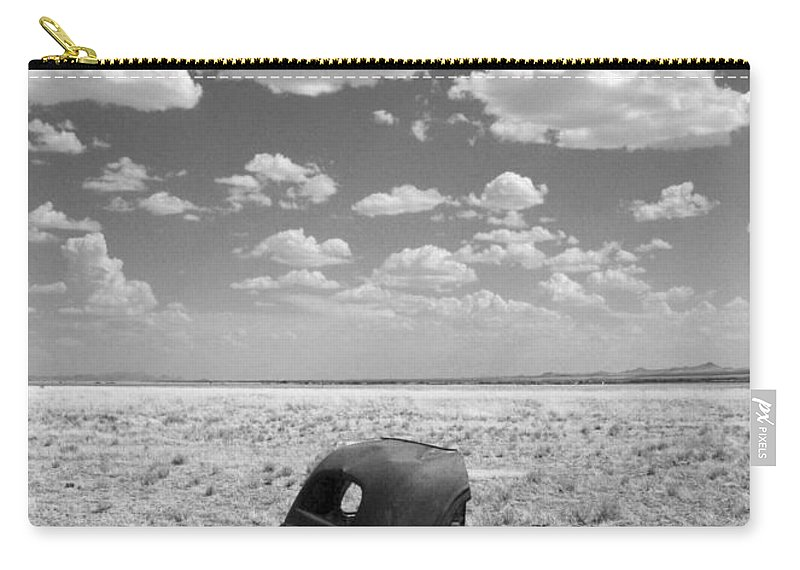 Car Carry-all Pouch featuring the photograph End Of The Road by Joe Kozlowski