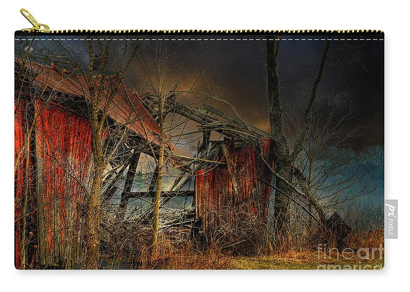Dystopia Carry-all Pouch featuring the photograph End Times by Lois Bryan