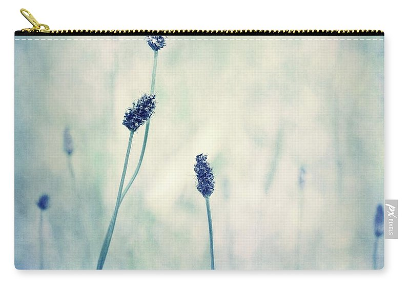 Blue Carry-all Pouch featuring the photograph Endearing by Priska Wettstein