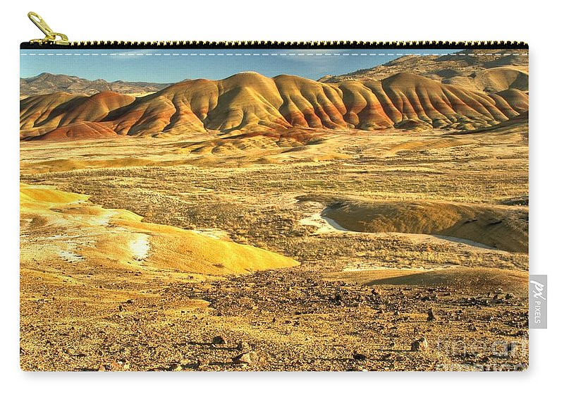 Painted Hills Carry-all Pouch featuring the photograph Endless Painted Hills by Adam Jewell