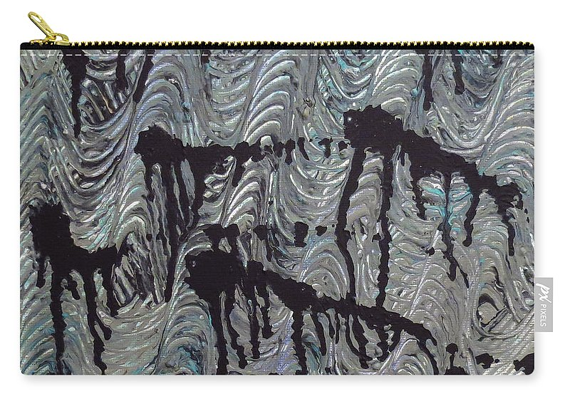 Abstract Carry-all Pouch featuring the painting Endless Waters by Elizabeth Harshman