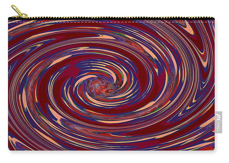 Energy Carry-all Pouch featuring the mixed media Energy Euphoria Wave Art Suitable For Large Format Prints Digital Graphic Signature  Art Navinjosh by Navin Joshi
