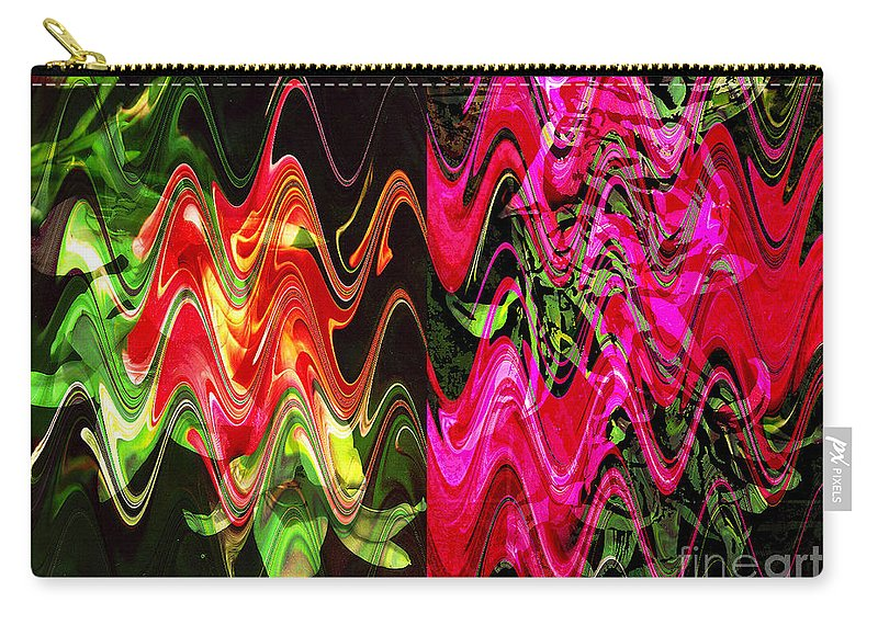 Abstract Carry-all Pouch featuring the digital art Energy by Yael VanGruber