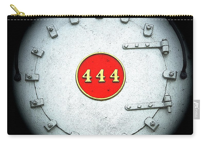 Engine 444 Carry-all Pouch featuring the digital art Engine 444 by Kim Pate