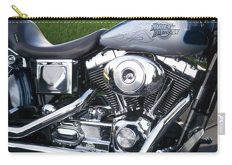 Motorcycles Carry-all Pouch featuring the photograph Engine Close-up 5 by Anita Burgermeister