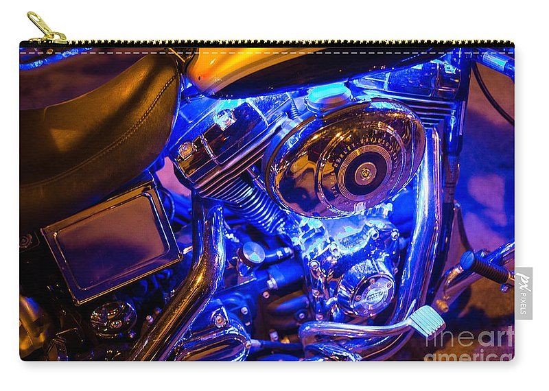 110yr Anniversary Carry-all Pouch featuring the photograph Engine Shimmer by Andrew Slater